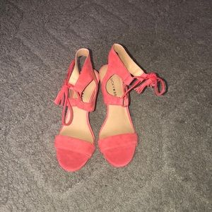 Lucky brand coral heels size 8
